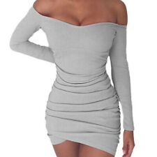Women's Bandage Bodycon Long Sleeve Evening Party Cocktail Club Mini Short Dress