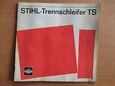 Betriebsanleitung Ersatzteilliste STIHL Trennschleifer TS