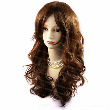 Wiwigs Long Sexy Brown & Copper Red Mix Wavy Skin Top Full Ladies Wig