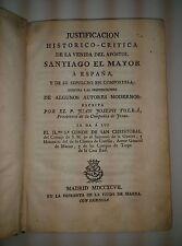 VENIDA DE SANTIAGO A ESPAÑA. 1797. P. Juan Joseph Tolrá