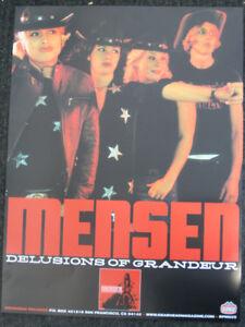 Mensen Promo Poster Gearhead Records Garage Punk Girls Rock Runaways Girl School