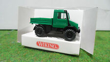 MERCEDES BENZ UNIMOG U140 Vert au 1/87 TRAIN HO WIKING 3760120 voiture miniature