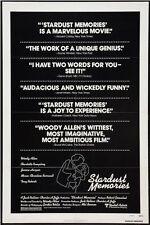 STARDUST MEMORIES - 1980 - Orig 27x41 movie poster - WOODY ALLEN - Review Style