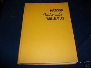 1966 HAMMOND AMBASSADOR WORLD ATLAS - GREAT MAPS - KD 2949