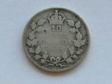 1915 Canada Silver Ten Cents George V Canadian Coin D3737