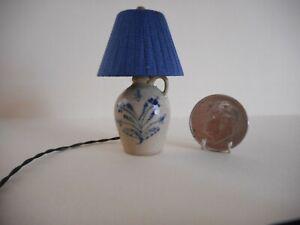 IGMA Artisan Jane Graber RARE Miniature Pottery Jug Lamp - EXQUISITE!!