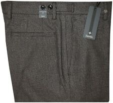 $395 NEW ZANELLA HOUNDSTOOTH FALL WINTER BRUSHED COTTON FLANNEL DRESS PANTS 34