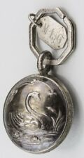 Rare Vintage/Antique Tiffany & Co. Sterling Silver Key Chain Rattle with Swan