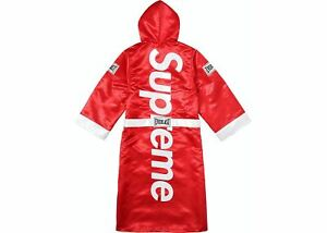 Supreme Everlast Satin Hooded Boxing Robe Red FW17 Size Small