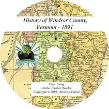 WINDSOR County Vermont VT - History & Genealogy -  Families - Rosters CD / DVD