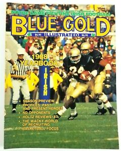 1988 Notre Dame Blue & Gold Yearbook NCAA Football National Championship Season