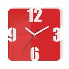 Rojo De Reloj Grande De Pared Moderno Decoración Hogar Salón Dormitorio Oficina Silencioso