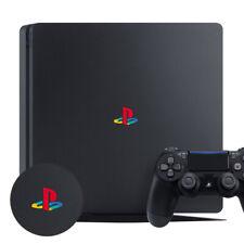 PLAYSTATION PS4 SLIM CLASSIC RETRO LOGO DECAL STICKER VINYL x 2