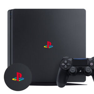 PLAYSTATION PS4 SLIM CLASSIC RETRO LOGO DECAL STICKER VINYL x 2