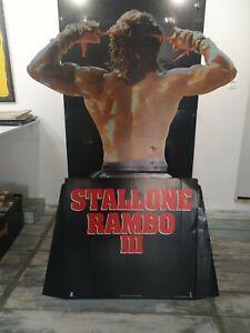 STALLONE / RAMBO FIRST BLOOD ORIGINAL STANDEE 1982