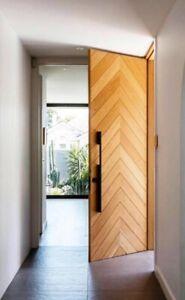 custom made designer doorware black brass blade door handles (pairs)