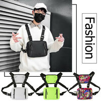 Fashion Oxford Crossbody Chest Bag Men Women Hip Hop Streetwear Vest Waist Packs