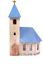 schöne Kirche mit Glocke Spur N HOLZ Modellhaus Dorfkirche Gebäude Haus DDR #1