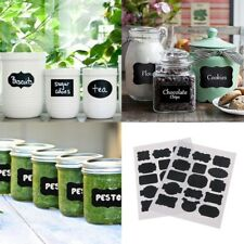 30pcs Chalkboard Blackboard Chalk Board Stickers Craft Kitchen Jar Labels Black