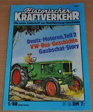 Historischer Kraftverkehr HIK 1/88 Deutz-Motoren VW Bus Gaubschat Büssing Lanz