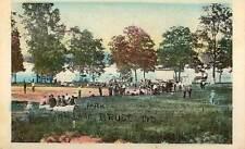 1909 LAKE BRUCE IN The Park Baseball Game ? Bicycle n Kewanna postcard