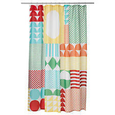 Ikea Brand Multi Colorfull 100% Polyester Shower Curtain for Bathroom Bathtub