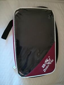 Double Fish quality CASE Cover Bag for ping pong racket table tennis paddle USA