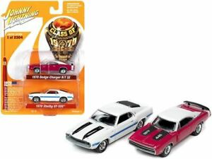 1:64 1970 Dodge Charger R/T SE & 1970 Ford Mustang Shelby GT500 -- Johnny Lightn