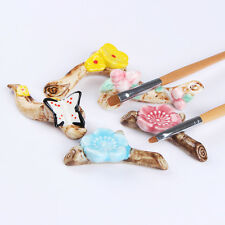 Nail Art Brush Pen Rack Ceramic Stand Holder Flower Branch Manicure Tool Random