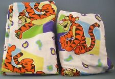 Disney Tigger Flannel Twin Flat & Fitted Sheets Cotton Winnie The Pooh Colorful