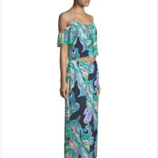 LILLY PULITZER POSY SET, BRIGHT NAVY DON'T LEAVE ME HANGING, NWT $198, 00