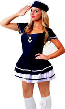 Womens Navy Sailor Military Boat Captain Ladies Fancy Dress Costume Size 18 - 20