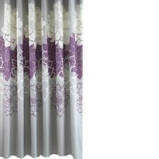 180 x 200 cm Purple Floral Shower Curtain Waterproof Mould Mildew Resistance
