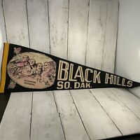 "Vintage Black Hills South Dakota Rushmore Memorial Banner Pennant 24"" No Tassel"