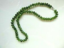 Sterling Silver Natural Jade Briolette Bead Necklace