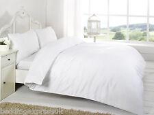 Night Zone 100 Egyptian Cotton 200 Thread Count Duvet Cover Set White Super King