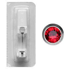 Erstohrstecker Titan mit Rundfassung in rot Studex Ohrring Steril verpackt
