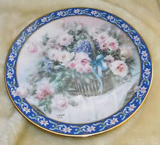 """1992 Lena Liu Basket Bouquets Series """"Roses"""" Collector Plate - First Issue"""