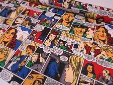 Marvel Comic Book Strip Kids Cartoon Cotton Fabric Curtain Upholstery Craft