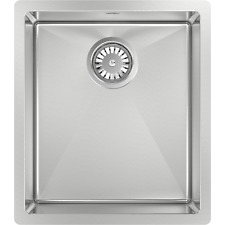 Abey PIAZZA SINGLE SQUARE BOWL SINK 390x445mm Stainless Steel *Australian Brand