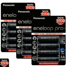 12 x Panasonic Eneloop PRO AA batteries 2500mAh Rechargeable High capacity Ni-MH