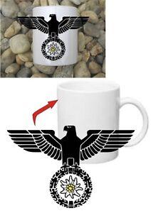 Gebirgsjäger Edelweiss Reichsadler Kaffee Becher Tasse Mug WH WWII WK2 NEU