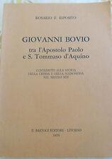 Esposito- GIOVANNI BOVIO TRA  APOSTOLO PAOLO E SAN TOMMASO D' AQUINO, I ed. 1975