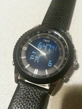 NEXT Men's Analogue & Digital Watch With Black Leather Straps XMAS GIFT (774447)