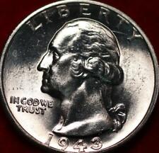 Uncirculated 1943-D Denver Mint Silver Washington Quarter