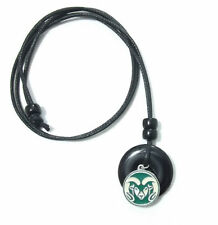 COLORADO STATE RAMS PENDANT ONYX CORD NECKLACE 24310 college sports jewelry