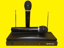 Kabelloses 2 Kanal WIRELESS/Funk Mikrofon Set System /KARAOKE SET/DRAHTLOS