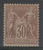 "FRANCE STAMP TIMBRE 69 "" TYPE SAGE 30c BRUN CLAIR 1876 "" NEUF xx TB A VOIR  N728"