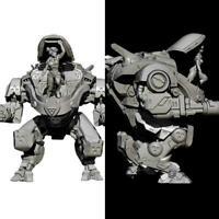 110mm Resin Figure Model Kit Robot Beauty Soldier Resin Model Soldier J4U7