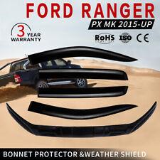 Bonnet Protector & Weather Shield Fit Ford Ranger Raptor PX MK Dual Cab 2015-UP